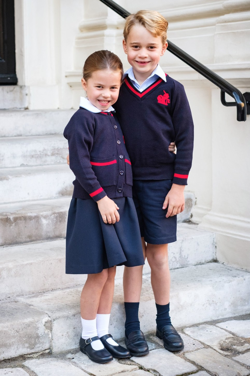 Image result for george and charlotte first day of school