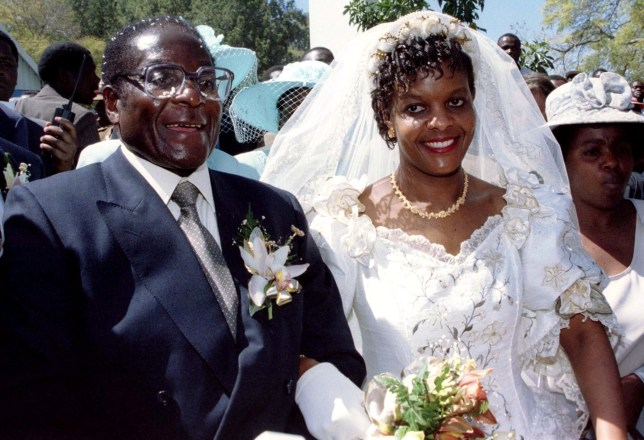 robert mugabe and his wife grace