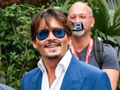 Johnny Depp is very blue at Venice Film Festival ahead of Waiting for the Barbarians premiere