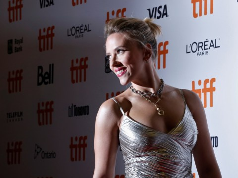 Scarlett Johansson shines in silver at Jojo Rabbit premiere amid Woody Allen controversy