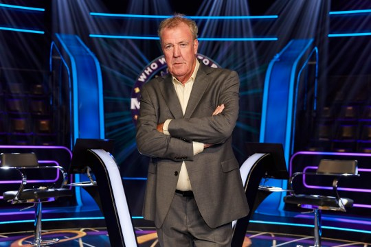 From Stellify Media Who Wants To Be A Millionaire? on ITV Pictured: Jeremy Clarkson. This photograph is (C) Stellify Media and can only be reproduced for editorial purposes directly in connection with the programme or event mentioned above, or ITV plc. Once made available by ITV plc Picture Desk, this photograph can be reproduced once only up until the transmission [TX] date and no reproduction fee will be charged. Any subsequent usage may incur a fee. This photograph must not be manipulated [excluding basic cropping] in a manner which alters the visual appearance of the person photographed deemed detrimental or inappropriate by ITV plc Picture Desk. This photograph must not be syndicated to any other company, publication or website, or permanently archived, without the express written permission of ITV Picture Desk. Full Terms and conditions are available on the website www.itv.com/presscentre/itvpictures/terms For further information please contact: iwona.karbowska@itv.com / 0207 157 3043