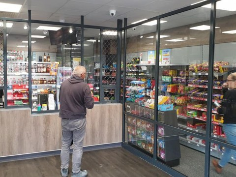 Off-licence keeps every item it sells behind bullet proof glass