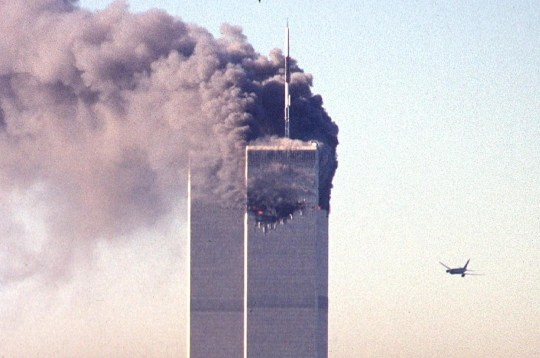 the second hijacked plane heading for the world trade center