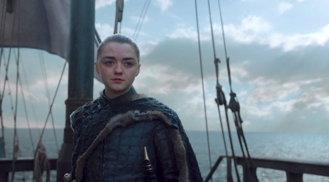Maisie Williams as Arya Stark on Game Of Thrones
