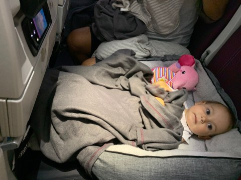 Mum reveals simple hack for helping toddlers sleep on longhaul flights