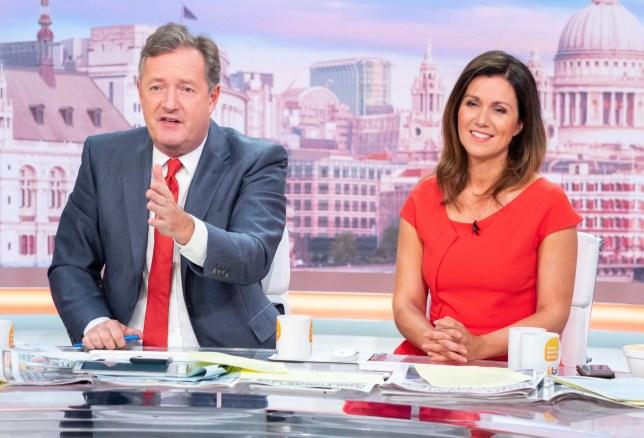 Editorial use only Mandatory Credit: Photo by Ken McKay/ITV/REX (10407118bn) Piers Morgan and Susanna Reid 'Good Morning Britain' TV show, London, UK - 11 Sep 2019