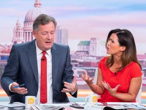 Piers Morgan 'identifies as penguin' as he calls Susanna Reid 'spineless' in gender row