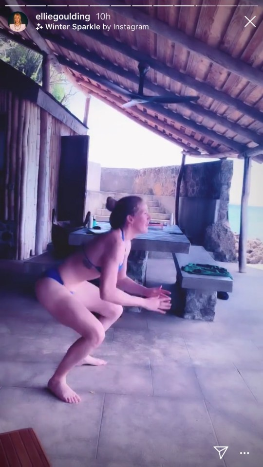 Ellie Goulding bikini workout