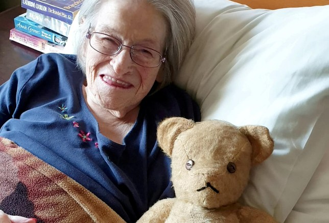 Woman reunited with the teddy bear that gave her comfort during childhood heart surgery