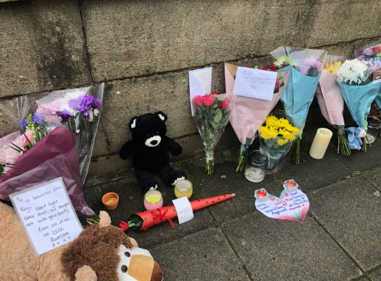 Floral tributes are left on a bridge in Radcliffe, Greater Manchester following the death of a baby boy in hospital after being rescued from the River Irwell. PA Photo. Picture date: Thursday September 12, 2019. The boy, believed to be almost 12 months old, was recovered from the water by firefighters who attended the scene near to Blackburn Street along with other emergency services. He was rushed to hospital but died a short time later. See PA story POLICE Radcliffe. Photo credit should read: Kim Pilling/PA Wire
