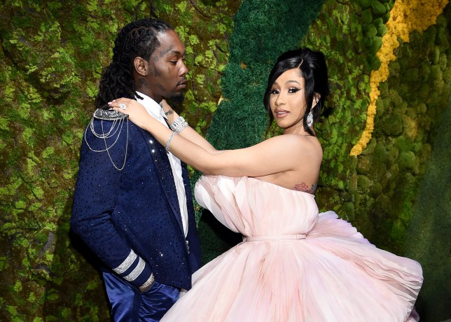Cardi B and Offset at Rihanna's Diamond Ball