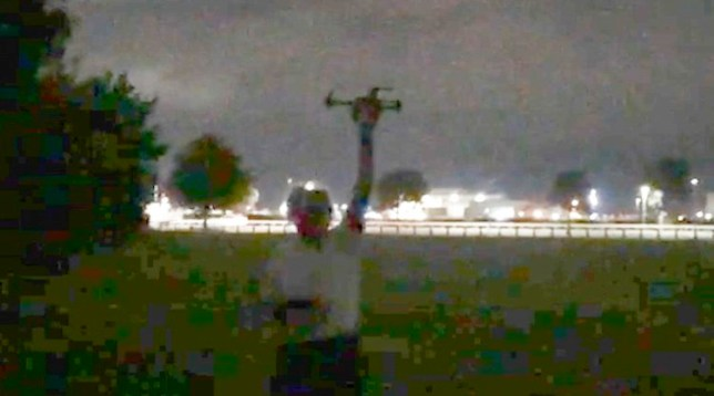 Uncleared screen grabs: Drone plotters at Heathrow *NO PERMISSION PLEASE LEGAL*