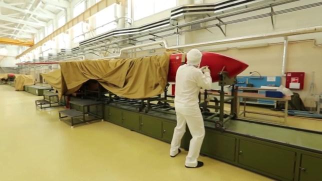 Burevestnik cruise missile - at the factory
