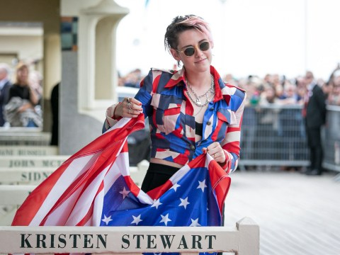 Kristen Stewart rocks the patriotic look as she receives film festival honour
