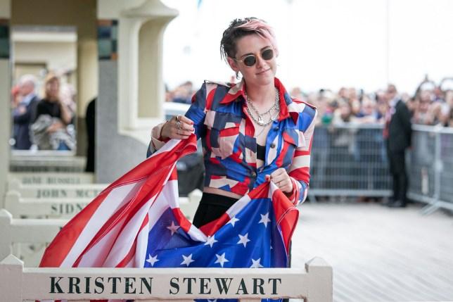 Kristen Stewart rocks red white and blue as film festival ceremony