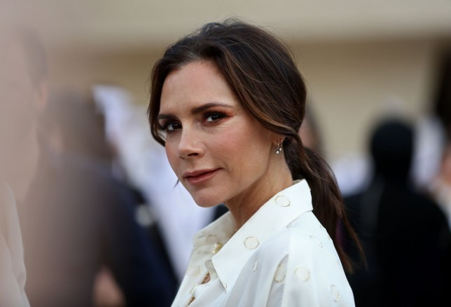 British singer and fashion designer Victoria Beckham