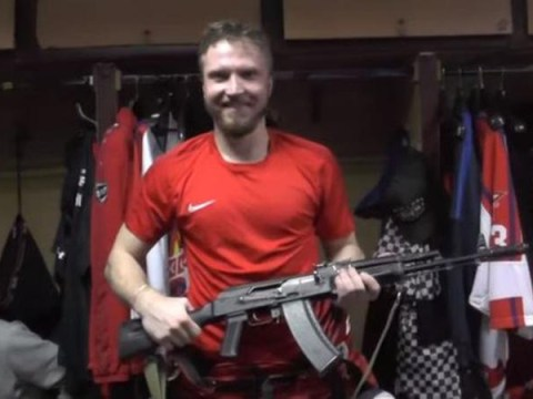 Russian ice hockey team rewards man of the match with AK-47 rifle