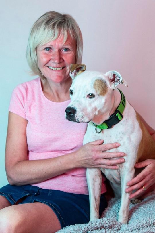 Debbie Nutchey and her dog Swift