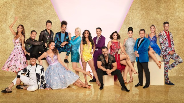 The Strictly Come Dancing 2019 celebrity contestants: David James, Saffron Barker, Mike Bushell, Michelle Visage, Emma Barton, Kelvin Fletcher, Will Bayley, Alex Scott, Anneka Rice, Dev Griffin, Catherine Tyldesley, James Cracknell, Karim Zeroual, Chris Ramsay, Viscountess Emma Weymouth
