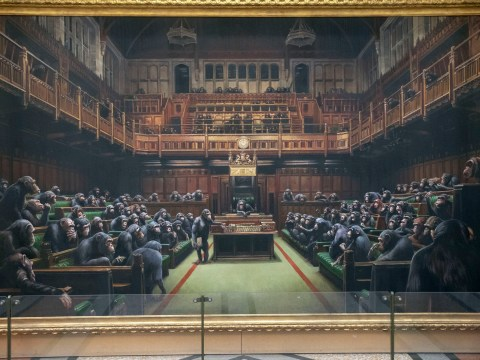 Banksy painting of chimps in Parliament on sale right before Brexit deadline