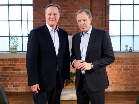 What time is the David Cameron interview on ITV tonight and when did he resign as Prime Minister?
