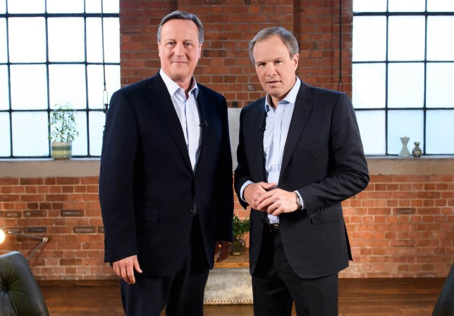 David Cameron and Tom Bradby in The Cameron Interview