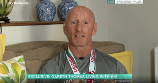 Gareth Thomas breaks down on This Morning Picture: ITV