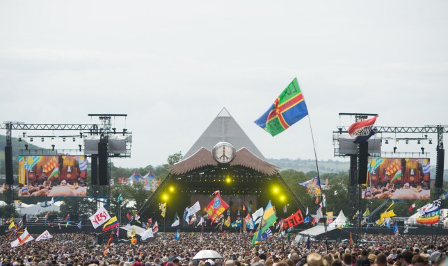 A view of Glastonbury's Pyramid Stage
