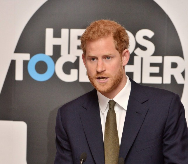 LONDON, UNITED KINGDOM - OCTOBER 10: Prince Harry speaks at a reception on World Mental Health Day to celebrate the impact of the Heads Together Charity at St James's Palace on October 10, 2017 in London, England. (Photo by John Stillwell - WPA Pool/Gety Images)
