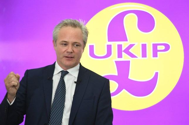 File photo dated 14/08/19 of UKIP leader Richard Braine who is boycotting his own party conference because of low ticket sales. PA Photo. Issue date: Wednesday September 18, 2019. Richard Braine entered a public row with the party's ruling national executive committee (NEC) after he called for the cancellation of the conference, which is due to start in Newport on Thursday. See PA story POLITICS UKIP. Photo credit should read: Stefan Rousseau/PA Wire