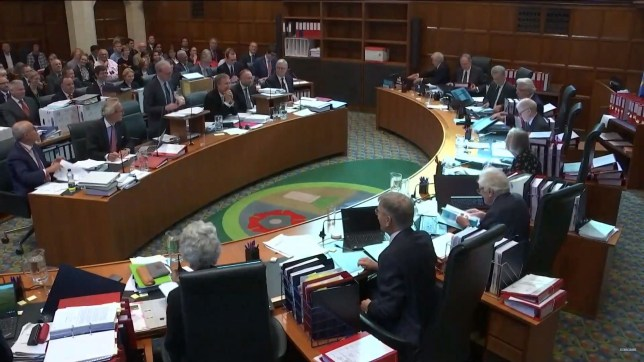 epa07852885 A handout screengrab made available by the Supreme Court of the United Kingdom shows court proceedings on the third day of a hearing on the prorogation of British parliament, in London, Britain, 19 September 2019. The Supreme Court is to decided whether the suspension of parliament by British Prime Minister Boris Johnson was lawful. EPA/SUPREME COURT / HANDOUT HANDOUT MANDATORY CREDIT: CROWN COPYRIGHT HANDOUT EDITORIAL USE ONLY/NO SALES
