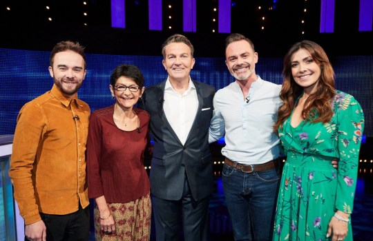 "Editorial use only Mandatory Credit: Photo by ITV/REX (10412916g) (L-R)) Jack P Shepherd, Shelley King, host Bradley Walsh, Daniel Brocklebank and Kym Marsh 'The Chase Celebrity Special' TV Show, Episode 2, UK - 21 Sep 2019 The Chase Celebrity Special, is a British ITV quiz show hosted by Bradley Walsh in which contestants play against a professional quizzer, the ""chaser"", who attempts to prevent them winning the cash prize. In this special Coronation Street edition Shelley King, Daniel Brocklebank, Kym Marsh and Jack P Shepherd hope to win thousands of pounds for charity."