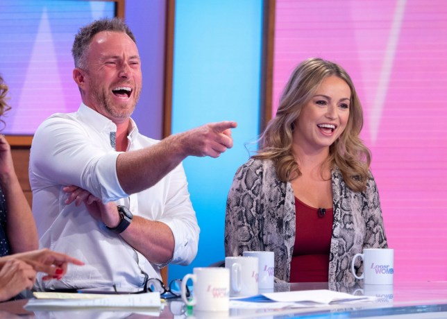 Editorial use only Mandatory Credit: Photo by Ken McKay/ITV/REX (10418284bg) James Jordan and Ola Jordan 'Loose Women' TV show, London, UK - 19 Sep 2019 GUEST: OLA & JAMES JORDAN: OUR IVF JOURNEY Today we are joined by former 'Strictly' professional dancers Ola and James Jordan to tell us about their joy at expecting their first child after trying for three years to conceive. They will also be telling us about their IVF experience and journey as well as the support they have received from other couples in their situation.