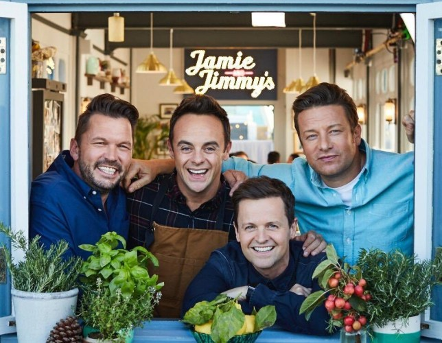 Ant mcpartlin and Declan donnelly and jimmy doherty and jamie oliver