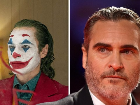 Joaquin Phoenix surprises fans at Joker screening