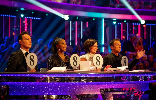 For use in UK, Ireland or Benelux countries only Undated BBC handout photo of Craig Revel Horwood, Motsi Mabuse, Shirley Ballas, Bruno Tonioli, during BBC1 dance contest, Strictly Come Dancing. PA Photo. Issue date: Saturday September 21, 2019. See PA story SHOWBIZ Strictly. Photo credit should read: Guy Levy/BBC/PA Wire NOTE TO EDITORS: Not for use more than 21 days after issue. You may use this picture without charge only for the purpose of publicising or reporting on current BBC programming, personnel or other BBC output or activity within 21 days of issue. Any use after that time MUST be cleared through BBC Picture Publicity. Please credit the image to the BBC and any named photographer or independent programme maker, as described in the caption.