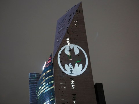Bat signal shines out over 11 cities to celebrate 80 years of the comic book hero