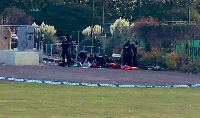 Child stabbed to death after argument in skate park (Picture: Ather Kazmi)