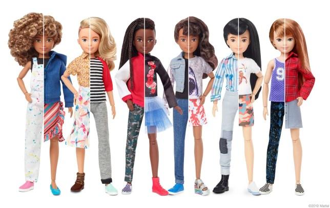 Mattel's new gender inclusive dolls