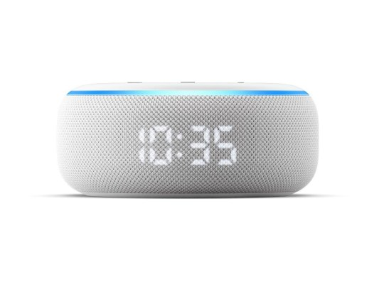 Undated handout photo issued by Amazon of the Echo Dot with clock, as the company has unveiled a range of Echo smart devices. PA Photo. Issue date: Wednesday September 25, 2019. See PA story TECHNOLOGY Amazon. Photo credit should read: Amazon/PA Wire NOTE TO EDITORS: This handout photo may only be used in for editorial reporting purposes for the contemporaneous illustration of events, things or the people in the image or facts mentioned in the caption. Reuse of the picture may require further permission from the copyright holder.