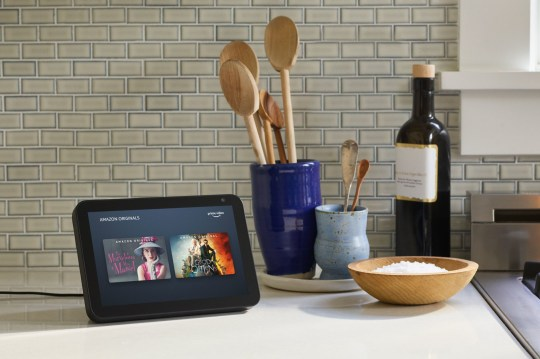 Undated handout photo issued by Amazon of the Echo Show 8, as the company has unveiled a range of Echo smart devices. PA Photo. Issue date: Wednesday September 25, 2019. See PA story TECHNOLOGY Amazon. Photo credit should read: Amazon/PA Wire NOTE TO EDITORS: This handout photo may only be used in for editorial reporting purposes for the contemporaneous illustration of events, things or the people in the image or facts mentioned in the caption. Reuse of the picture may require further permission from the copyright holder.