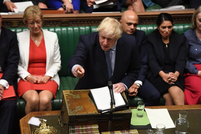 Prime Minister Boris Johnson in Parliament
