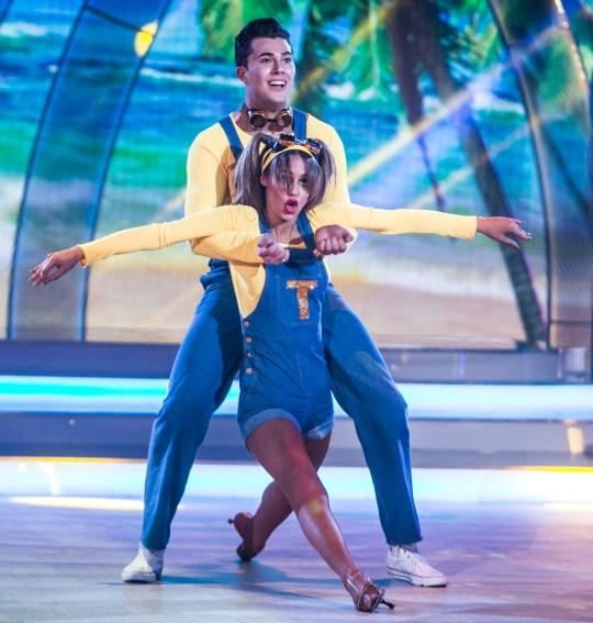 Dancing with the stars Thalia Heffernan & Curtis Pritchard