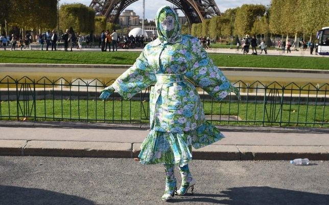 Cardi B's PFW look is a complete mood as she tries to outshine the Eiffel Tower