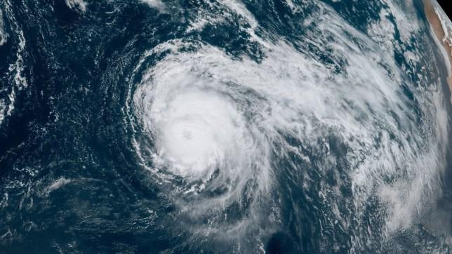 Satellite image of Hurricane Lorenzo