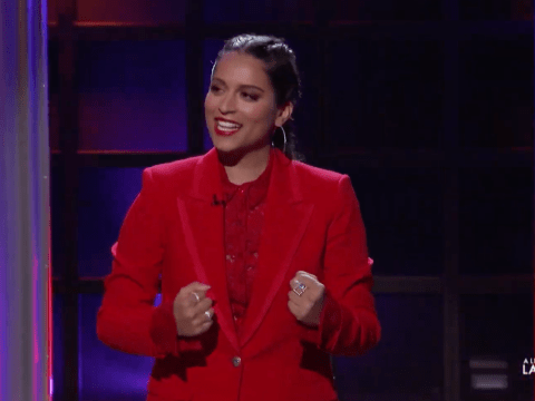 Lilly Singh takes down the boys club in the premiere of her talk show A Little Late