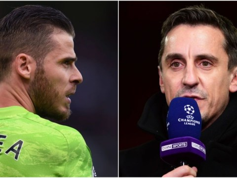 Gary Neville reacts to David de Gea signing new Manchester United contract