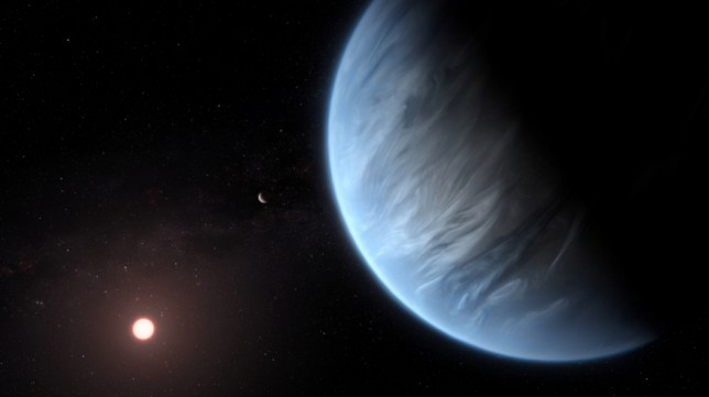 An artist's impression of the water-holding exoplanet (PA)
