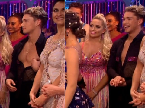 Cheeky AJ Pritchard caught flashing his nipple live on Strictly Come Dancing