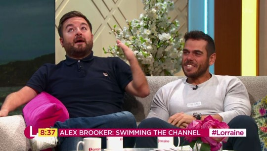 Alex Brooker and Ross Edgley